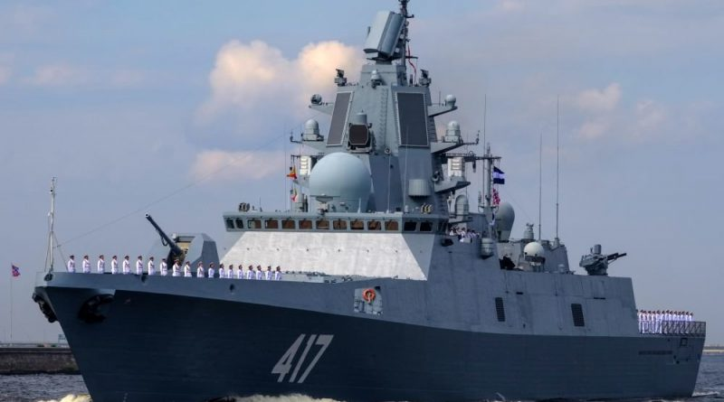"""Започнаха държавни изпитания за фрегатата """"Адмирал Касатонов"""""""